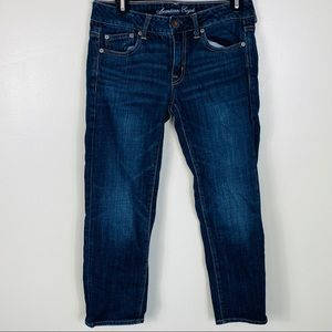 American Eagle Boy Fit Jeans Stretch Size 2